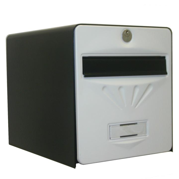 bo te aux lettres baln aire 1 porte coloris noir et blanc balsa homologu e la poste fran aise. Black Bedroom Furniture Sets. Home Design Ideas