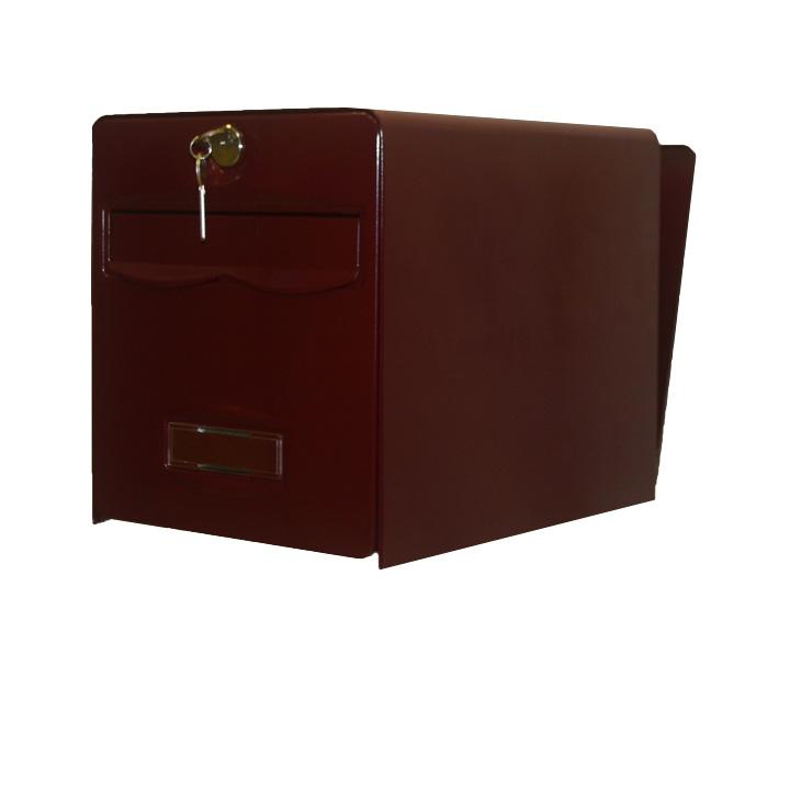 bo te aux lettres balthazar 2 portes coloris bordeaux balsa homologu e la poste fran aise. Black Bedroom Furniture Sets. Home Design Ideas