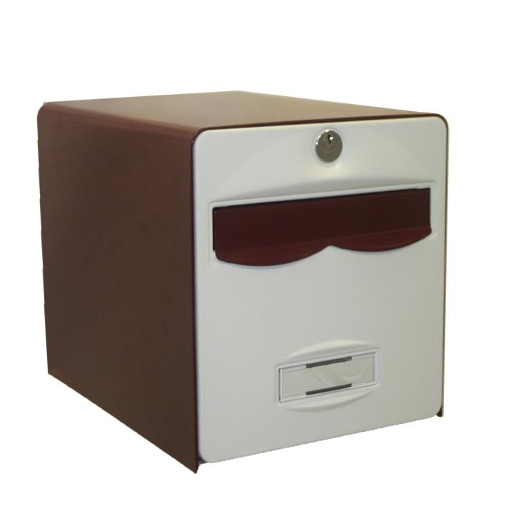 bo te aux lettres balthazar 1 porte coloris bordeaux et blanc balsa homologu e la poste fran aise. Black Bedroom Furniture Sets. Home Design Ideas
