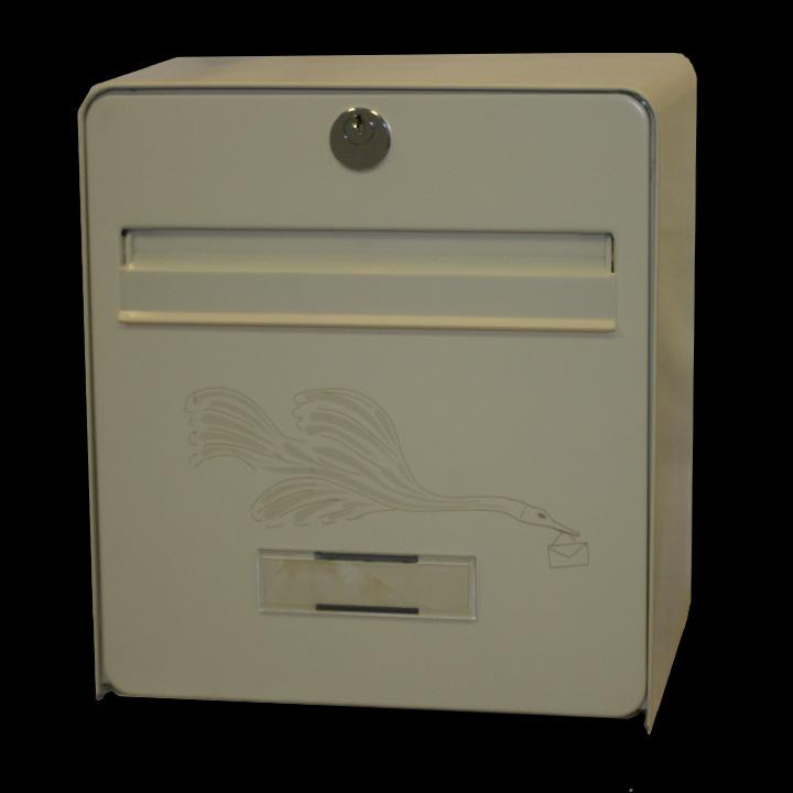 bo te aux lettres mini standard coloris ivoire s rigraphie oiseau balsa homologu e la poste. Black Bedroom Furniture Sets. Home Design Ideas