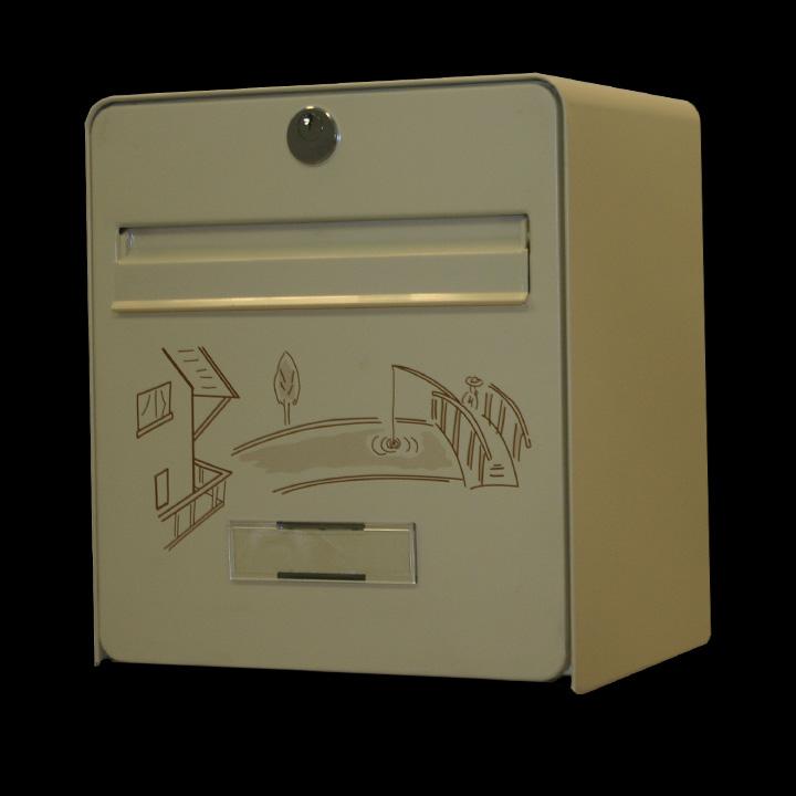 bo te aux lettres mini standard coloris ivoire s rigraphie p cheur chocolat balsa homologu e. Black Bedroom Furniture Sets. Home Design Ideas