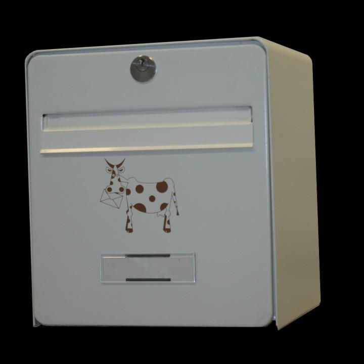 bo te aux lettres mini standard coloris ivoire s rigraphie vache chocolatbalsa homologu e la. Black Bedroom Furniture Sets. Home Design Ideas