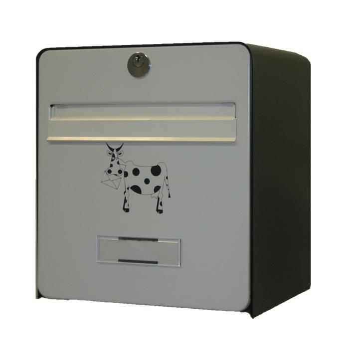 bo te aux lettres mini standard coloris noir et blanc. Black Bedroom Furniture Sets. Home Design Ideas