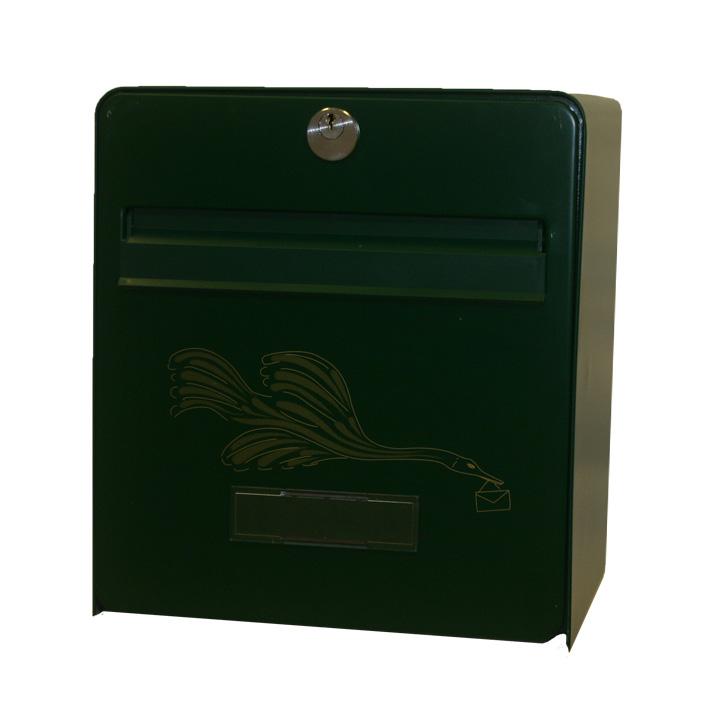 bo te aux lettres mini standard coloris vert s rigraphie oiseau balsa homologu e la poste. Black Bedroom Furniture Sets. Home Design Ideas