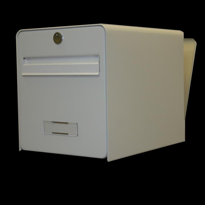 bo te aux lettres standard 2 portes coloris blanc volet. Black Bedroom Furniture Sets. Home Design Ideas