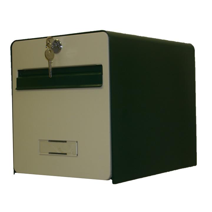 bo te aux lettres standard 1 porte coloris vert et beige balsa homologu e la poste fran aise. Black Bedroom Furniture Sets. Home Design Ideas
